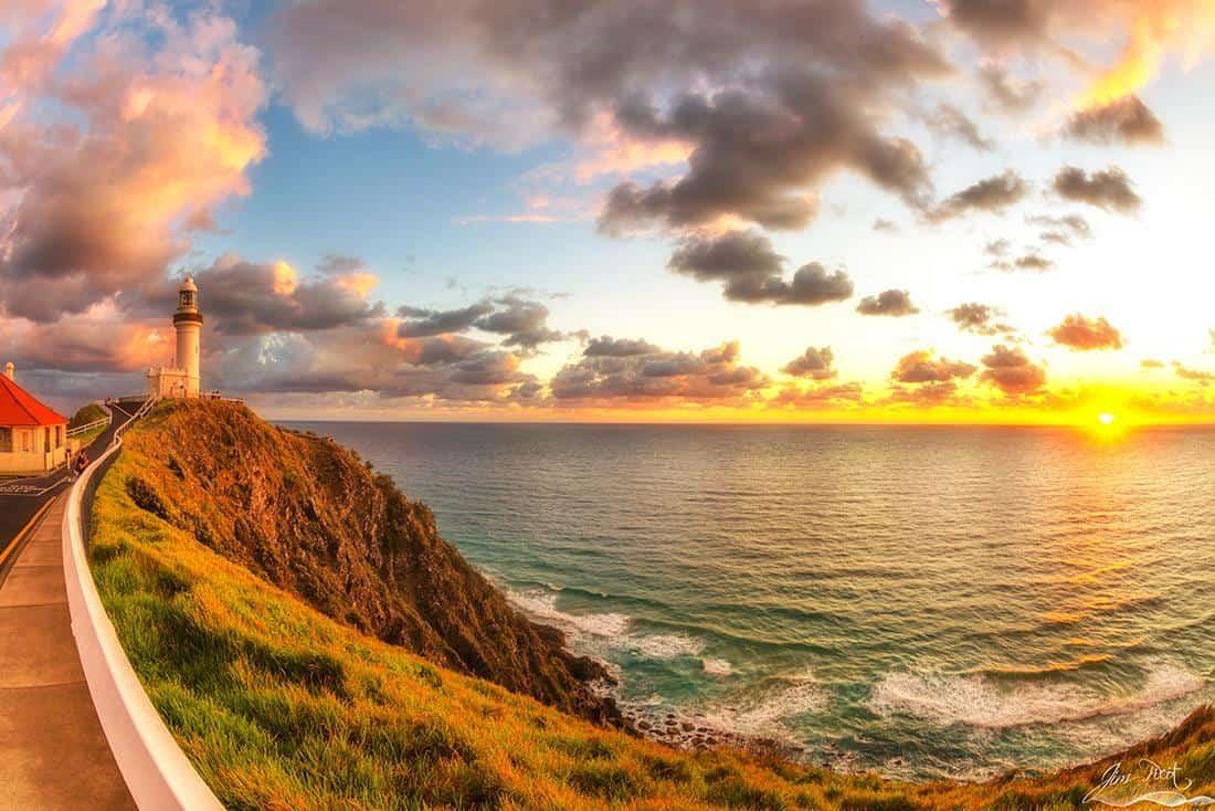 Byron Bay Lighthouse sunrise yesterday morning.