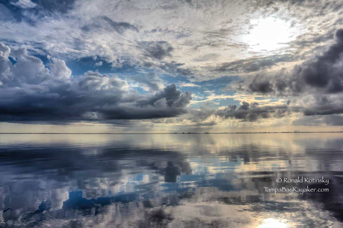 Tampa Bay Storm Reflections - July 2015 - One of my best storm cloud reflection shots from this year.— at Tampa Bay, FL.