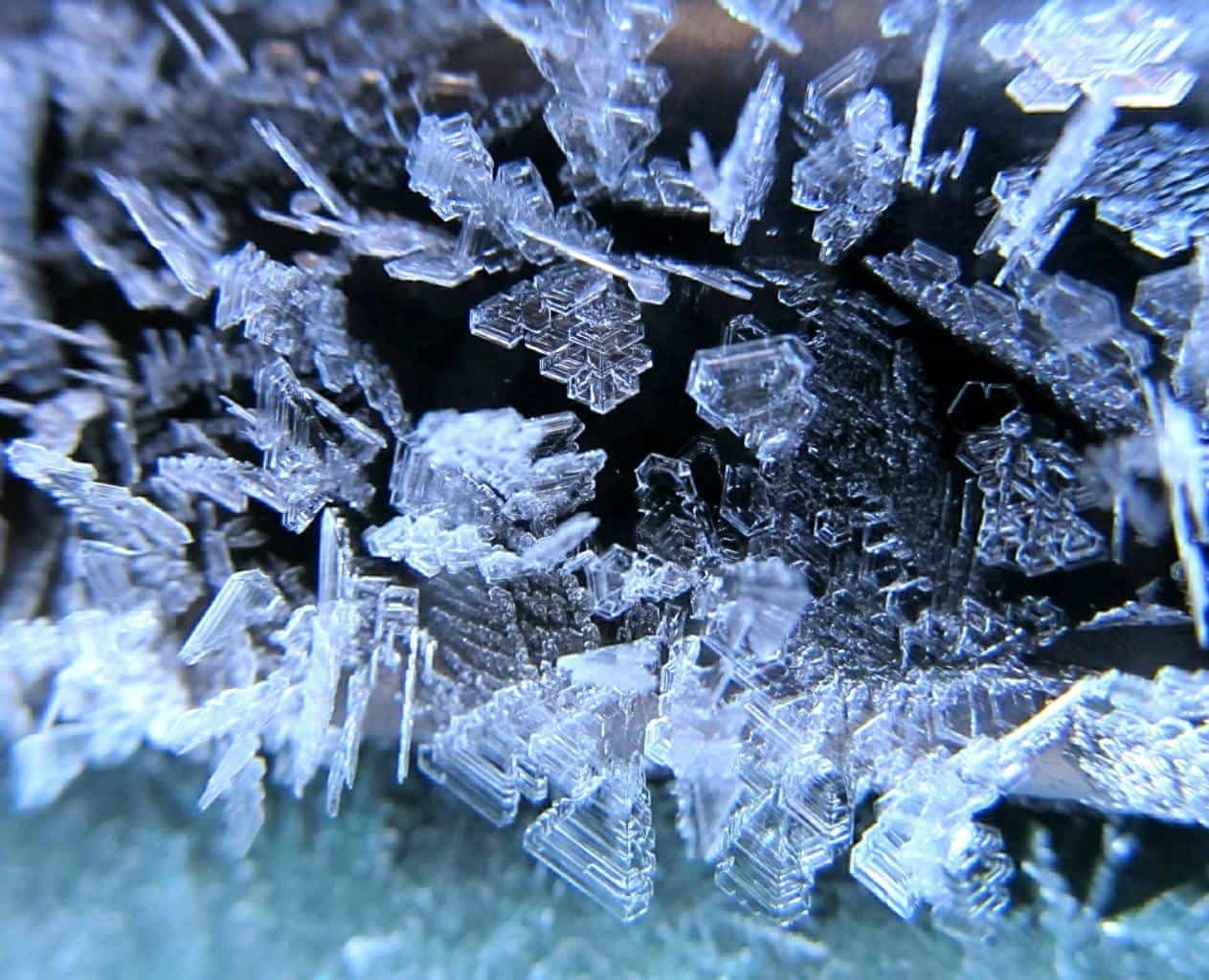 Frost crystals this morning in Eau Claire, WI