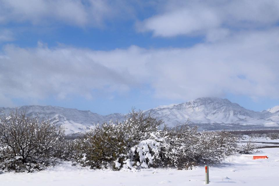 5 inches of snow in El Paso, Texas!