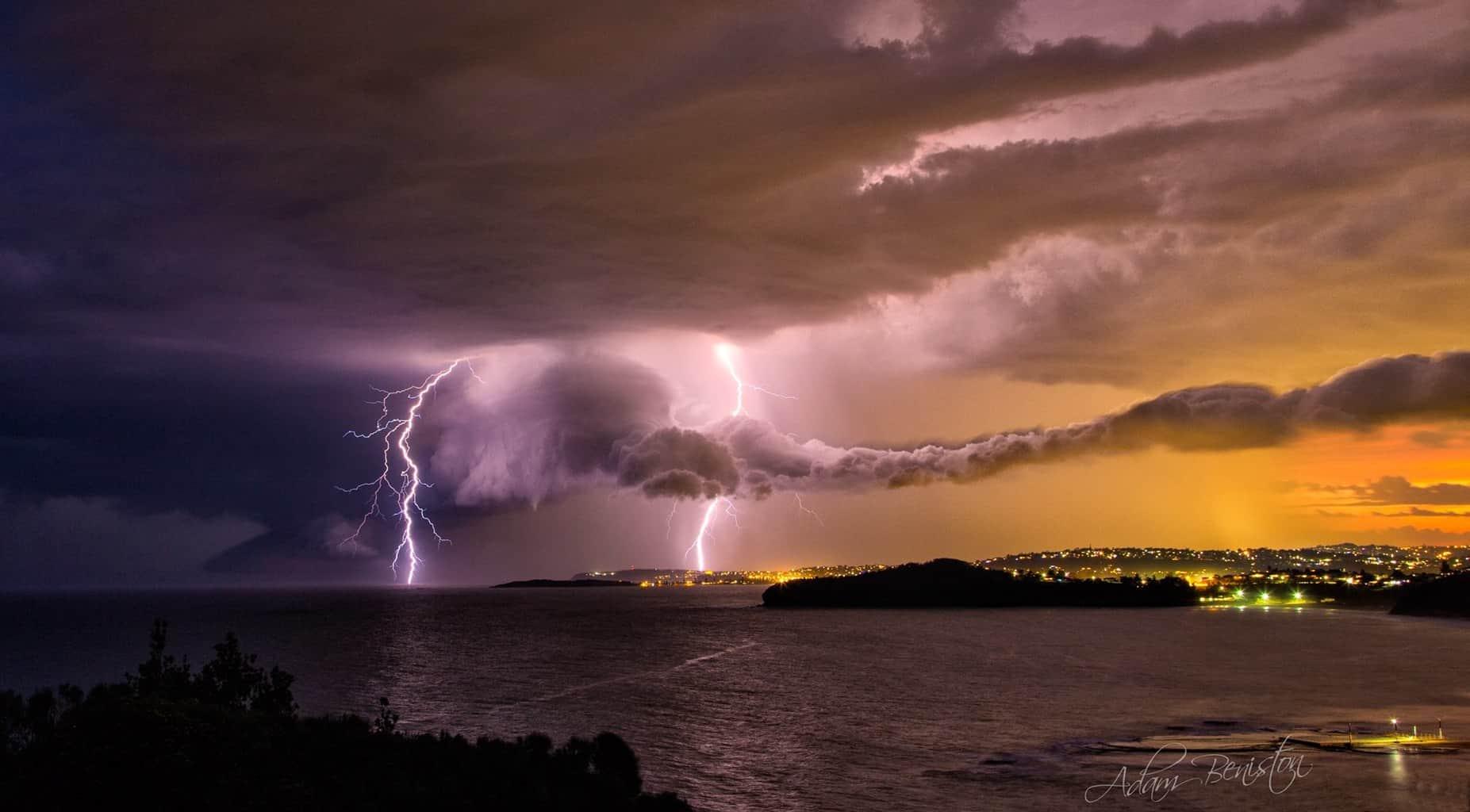 Storm came through Sydney last night right on Sunset.