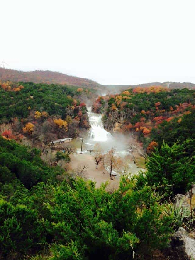 Turner Falls today  It's Cold in them hills