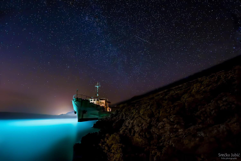 Night sky Island Pag,Croatia