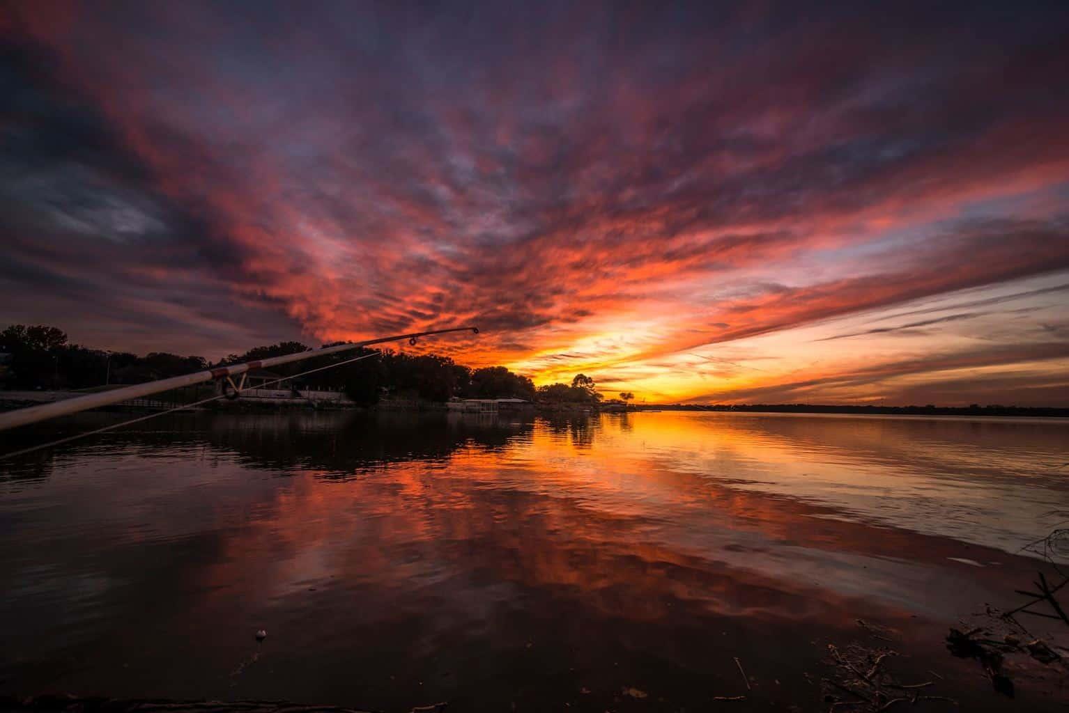 Sunset over Lake Arlington in Tx yesterday