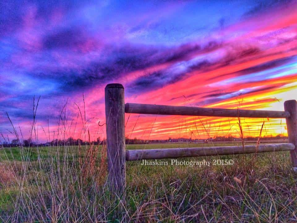 Some of the most amazing and colorful sunsets I've seen have occurred here in the south. Residing in Arkansas for the last 15 years I've seen and captured many of them. This one I was excited to capture back on November 6th 2015, near a municipal airport in Bentonville Arkansas. Such vast colors, which change every second. I hope y'all enjoy this as much as I did photographing it. Such a peaceful moment.