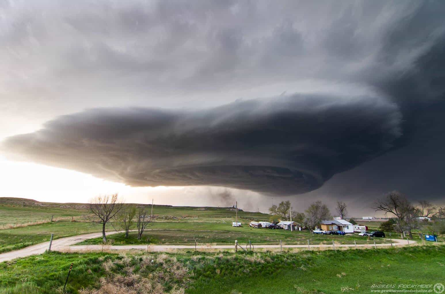 May 19th 2014 LP-Supercell with nice Mothership near Sidney, Nebraska.