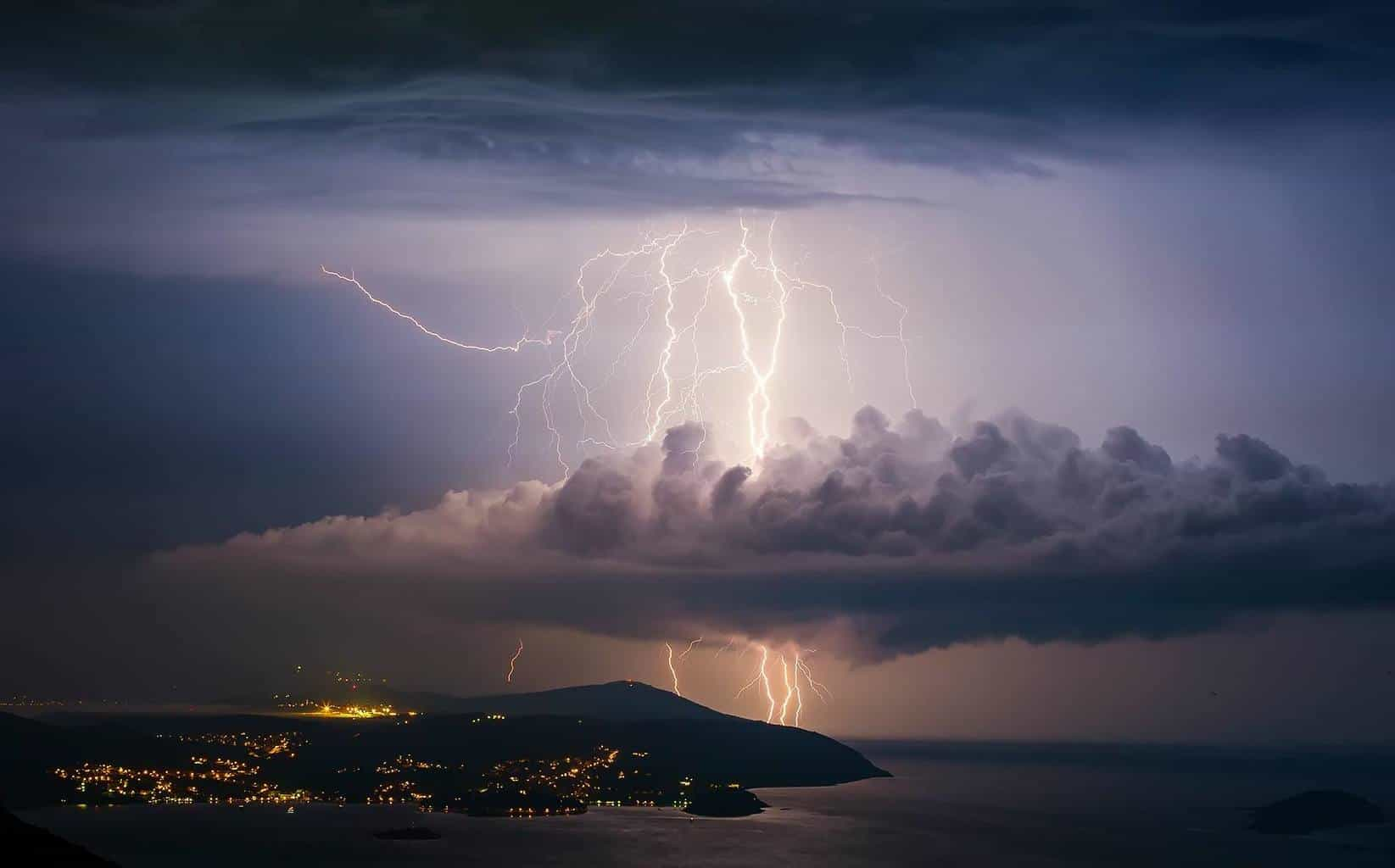 storm ariving on Cavtat /Croatia....autumn 2014.