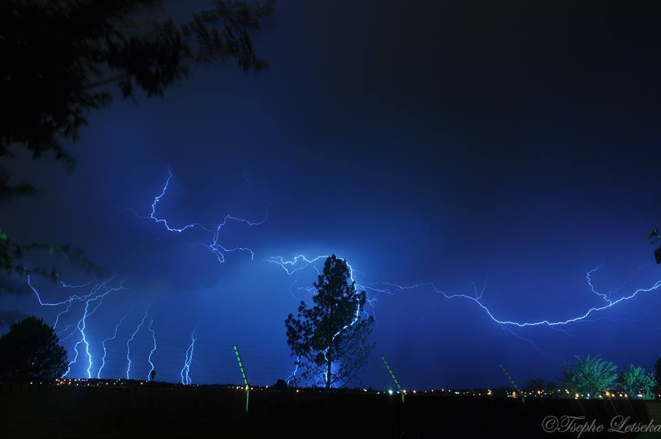 Lightning last night in Pretoria, South Africa.