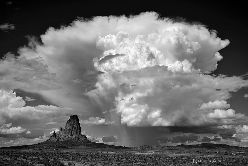 I photographed this storm in Arizona near Agathla Peak in September 2013. Moments later it flooded nearby Monument Valley.