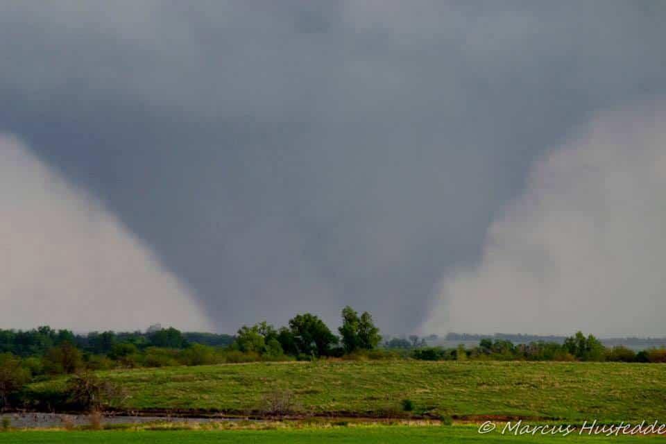 April 14, 2012 near Lyons, KS...an EF4 wedge rips across the open Kansas landscape