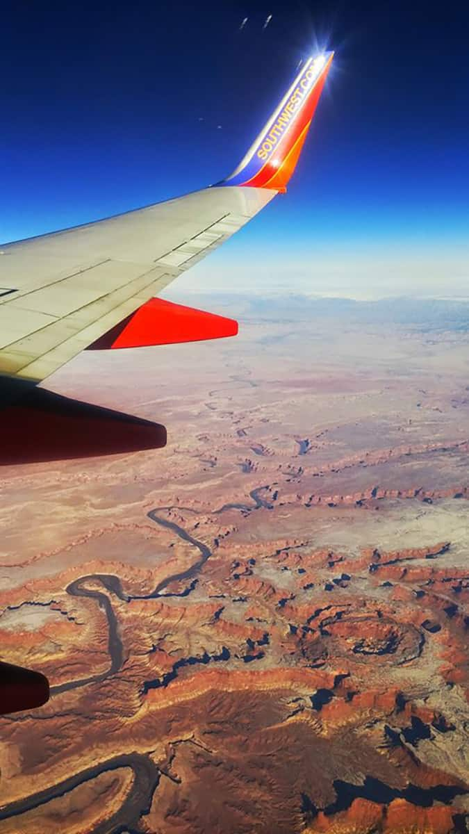Flying over Grand Canyon ish country
