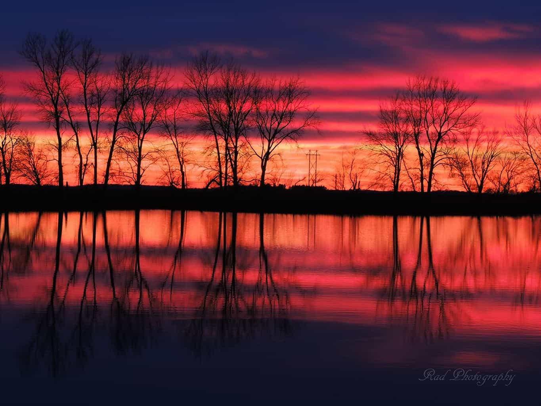 Sunset this evening in Mt. Pulaski, IL.
