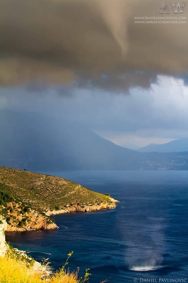 Waterspout along the coast between Dubrovnik and Cavtat (Croatia), Oct 2012.