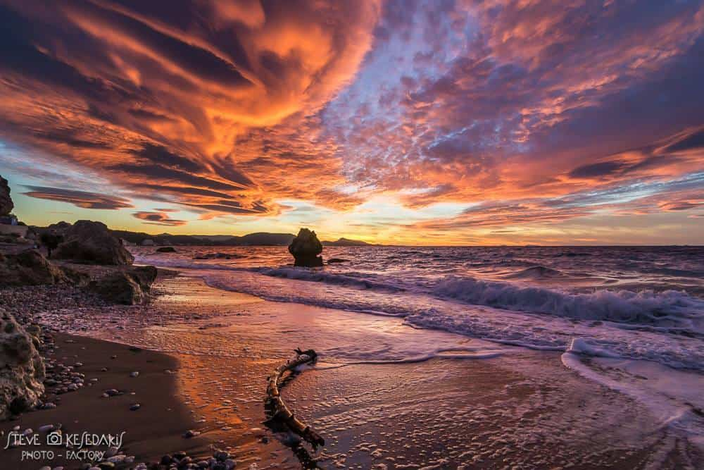 Theres a moment where all you need is a severe-sunset LOL..... one of the best sunsets ive captured with some lenticular clouds too Rhodes island Greece just two days ago!!!