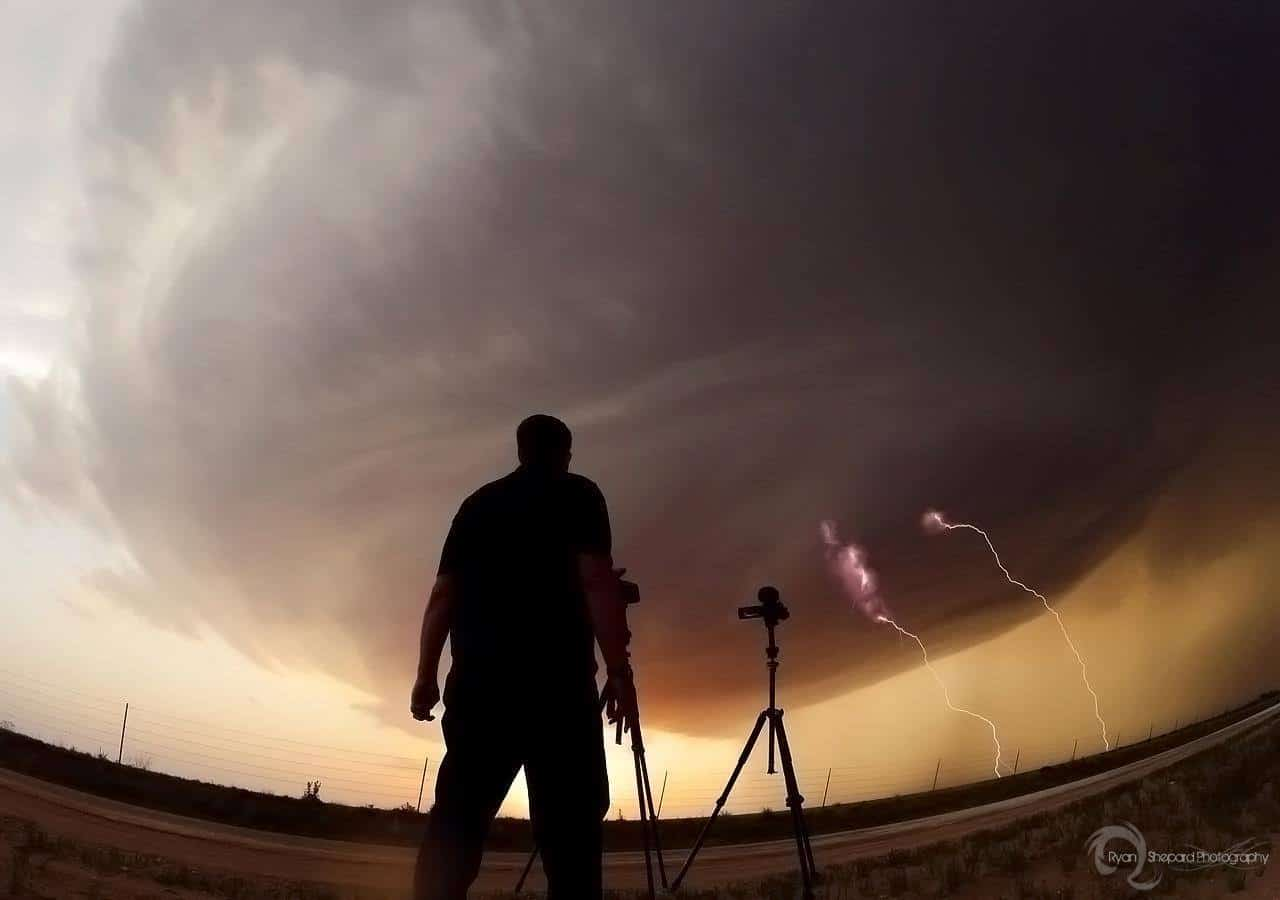 June 2012 Clovis, NM - Roger Hill, the world record holder, looks at a Supercell