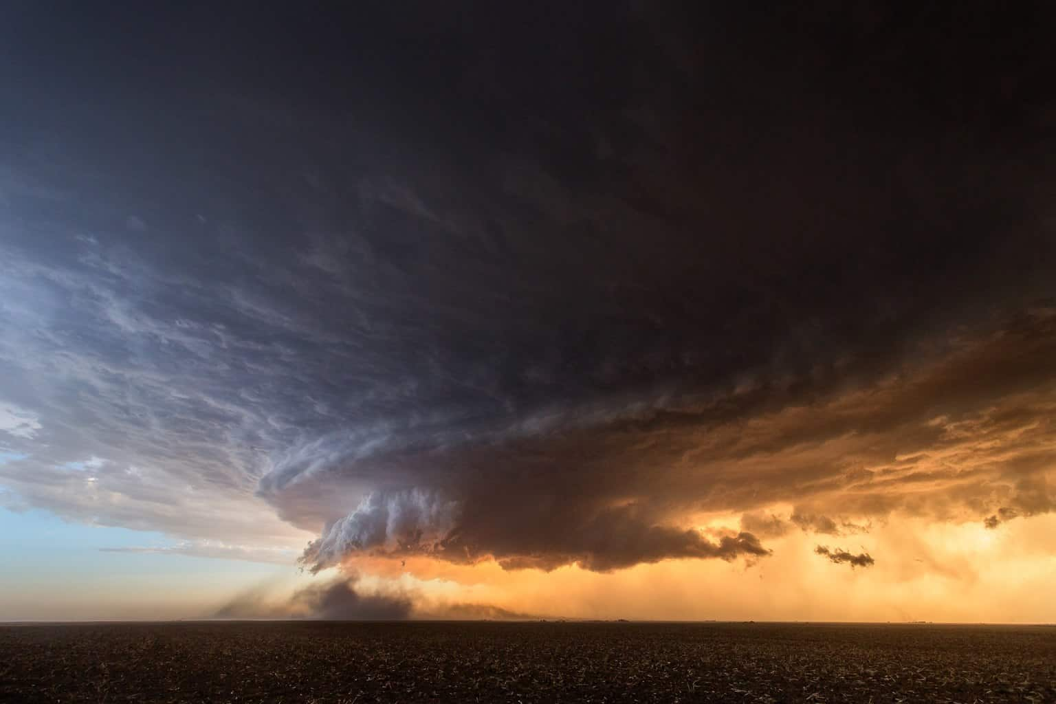 A photo I never edited from that stunning supercell near Booker, Texas back on June 3rd, 2013. Still can't believe my buddy Andy Hoeland and I flew into Denver and drove to Kansas, but ended up chasing into Texas and were blessed to see this storm. Probably the best supercell I've ever seen in person. — with Andy Hoeland.