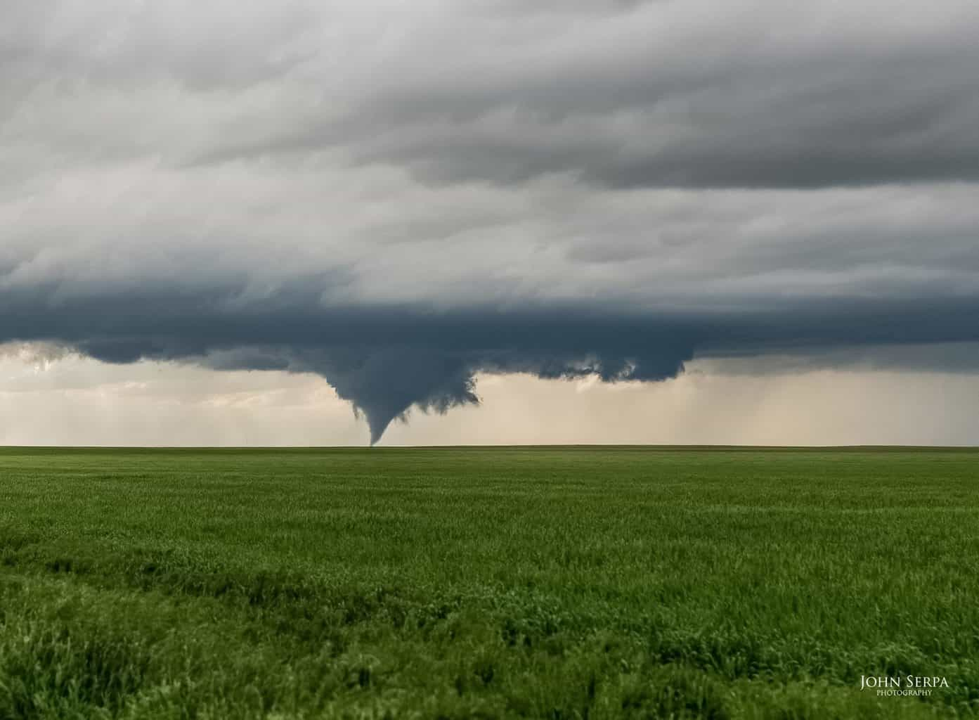 Field of Dreams The most picturesque tornado I photographed in 2015. May 9, Cheyenne Wells, Colora