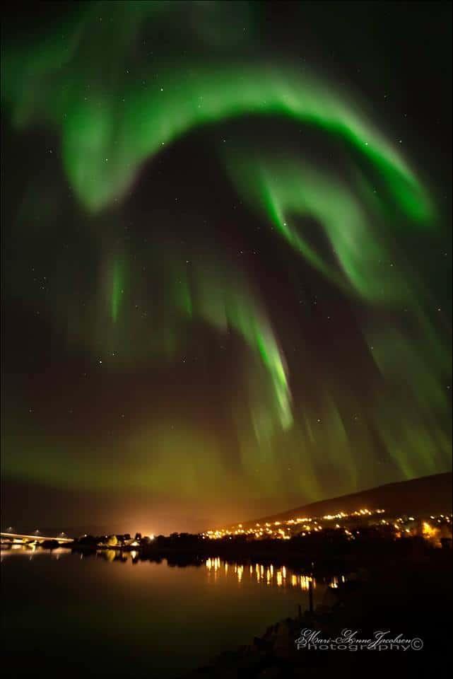 Heaven`s light, dancing in Tromso Norway