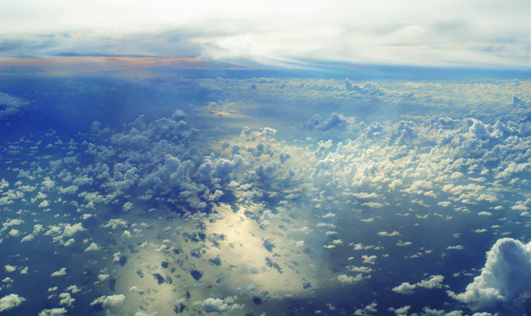 From up and above. I enjoyed this capture, the clouds were endless  On my way to Virgin Gorda, British Virgin Islands last week — at Virgin Gorda.