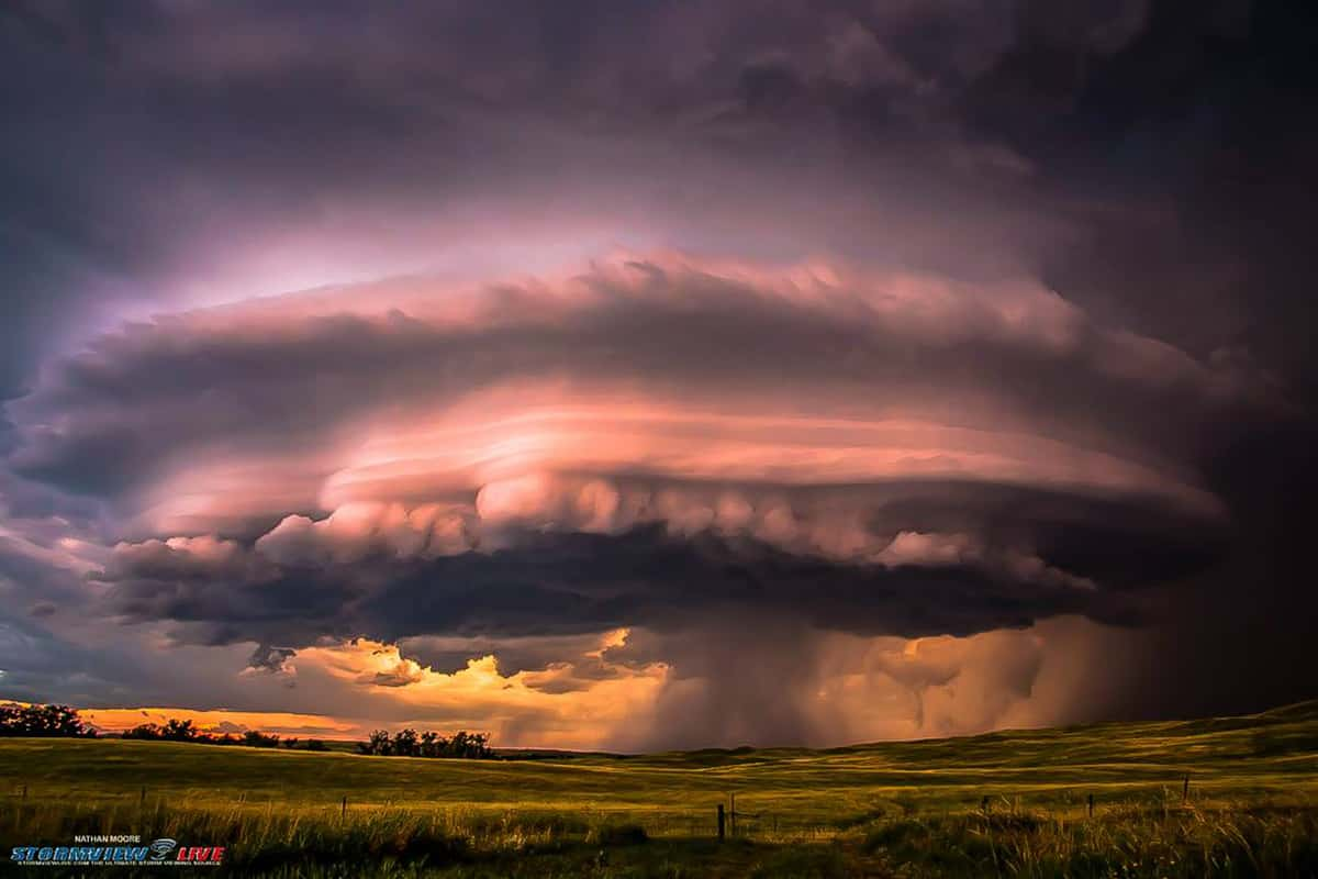 A different angle and much higher quality photo from this awesome tornado warned storm near Mission, South Dakota on July 4th.
