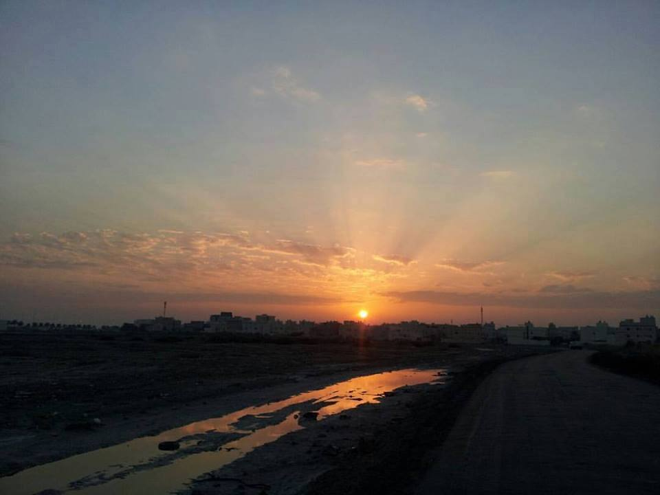 Today's sunset from Kingdom of Bahrain with the presense of Altocumulus Clouds