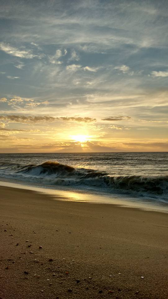 Beauty and magic sunrise in Farol de São Tomé, Campos beach, in Rio de Janeiro, in January of this year