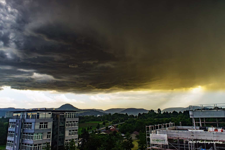 """Mothership"" Hughe Thunderstorm over my Hometown"
