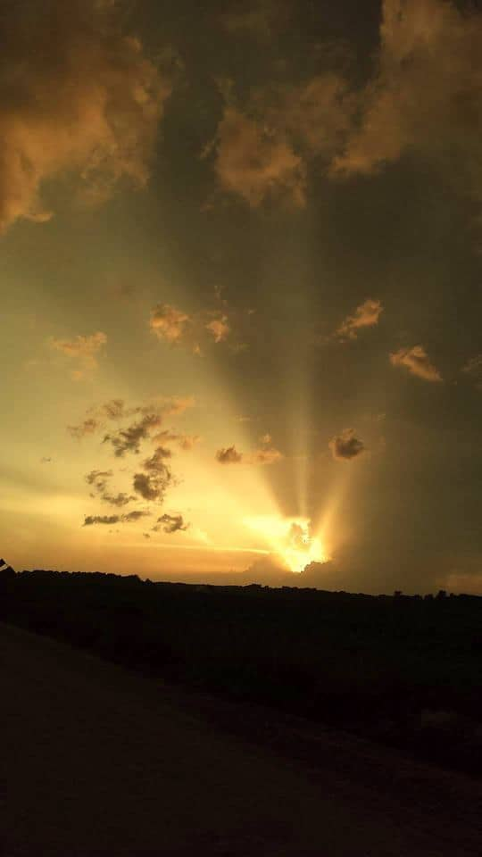 Amazing sunset this Spring here in Burlington, love the crepuscular rays. Shot with Samsung cell phone