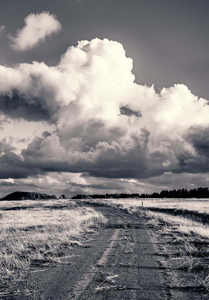 Road to nowhere. The clouds were so awesome the other day.
