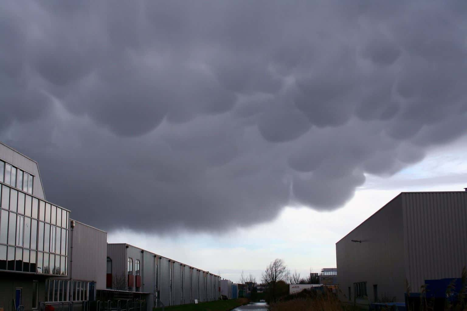 Mammatus clouds over my working place in Zoetermeer the Netherlands.