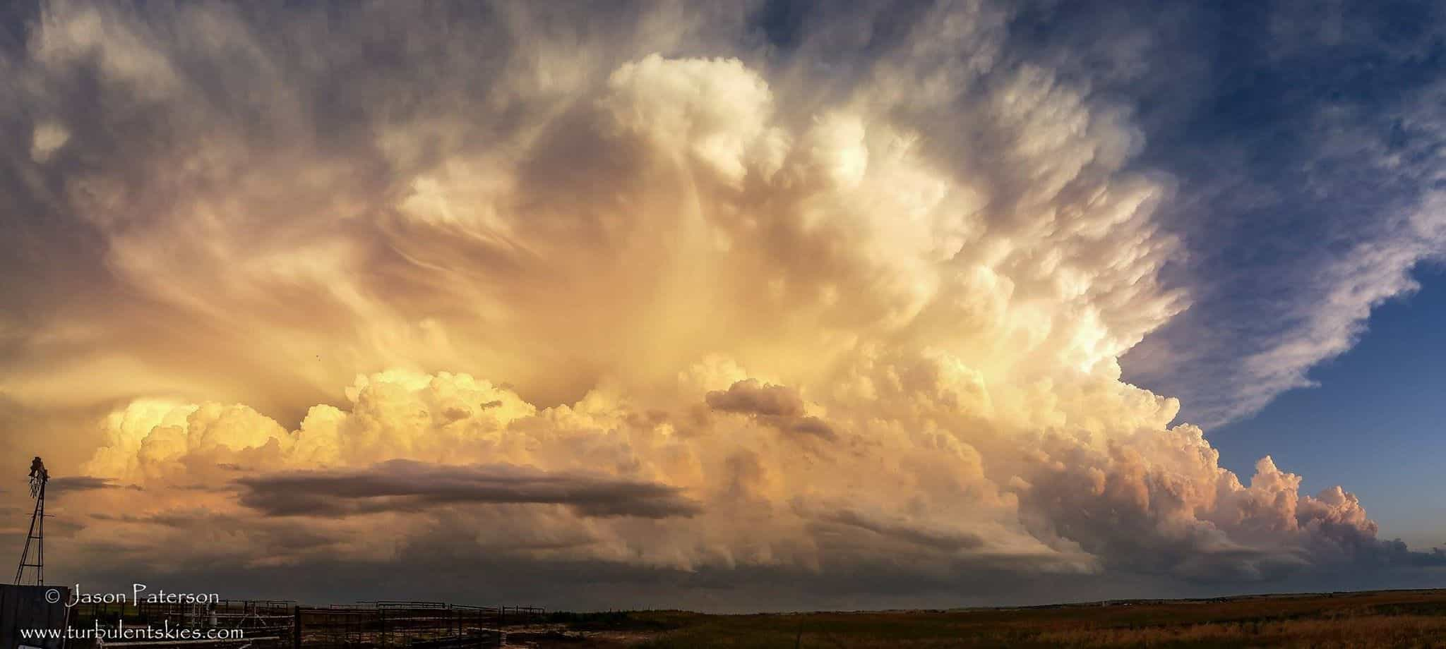 May 26th 2015 Northern Oklahoma. This is what happens when 3500j/kg of CAPE is realised! These spectacular boiling updrafts illuminated by the setting sun are part of a larger complex that had a tornado warning on its eastern end. No need for timelapse here, you could see the updrafts erupting into the atmosphere in real time....truly a memorable sight!