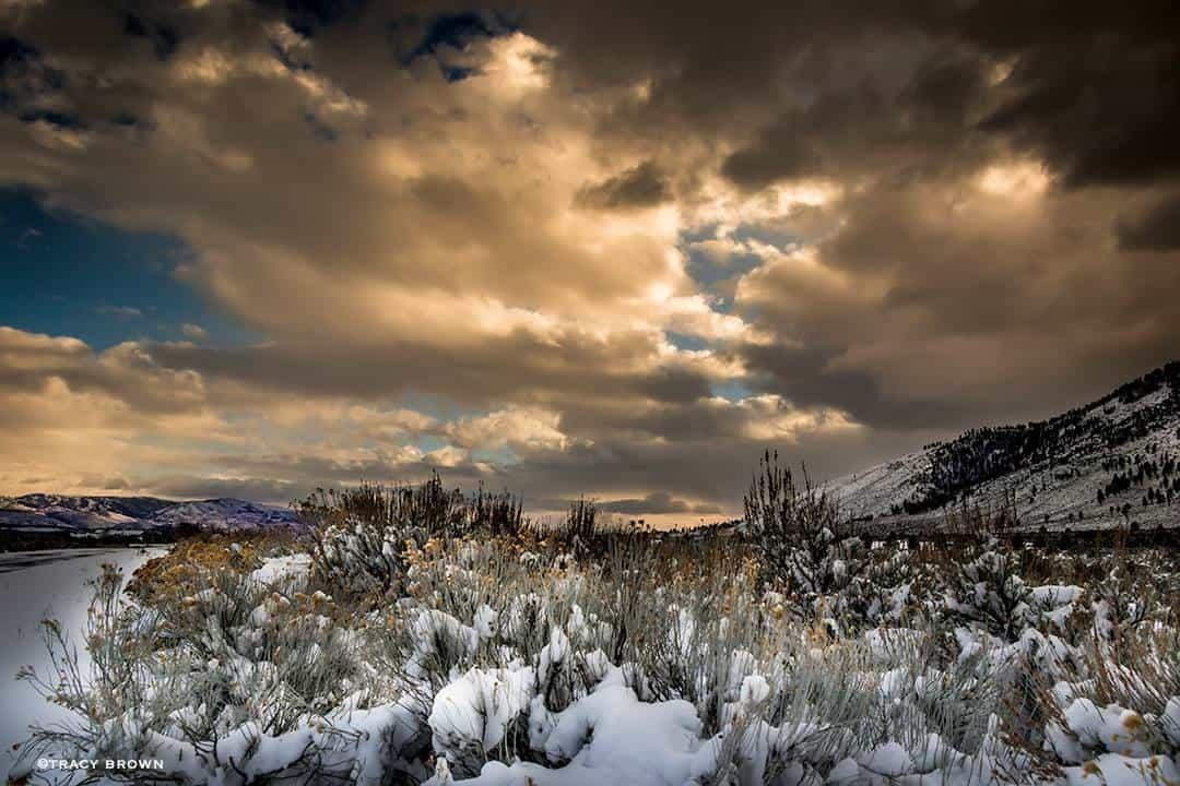 Christmas Sunset taken in Nevada.