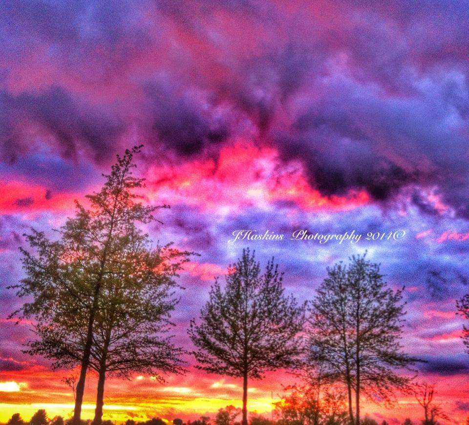 Here's a beautiful vastly colored sunset, after a stormy evening in the late spring of 2014 in Rogers, AR. I couldn't believe the colors myself. And the photo doesn't come close to doing justice!! Enjoy y'all!!