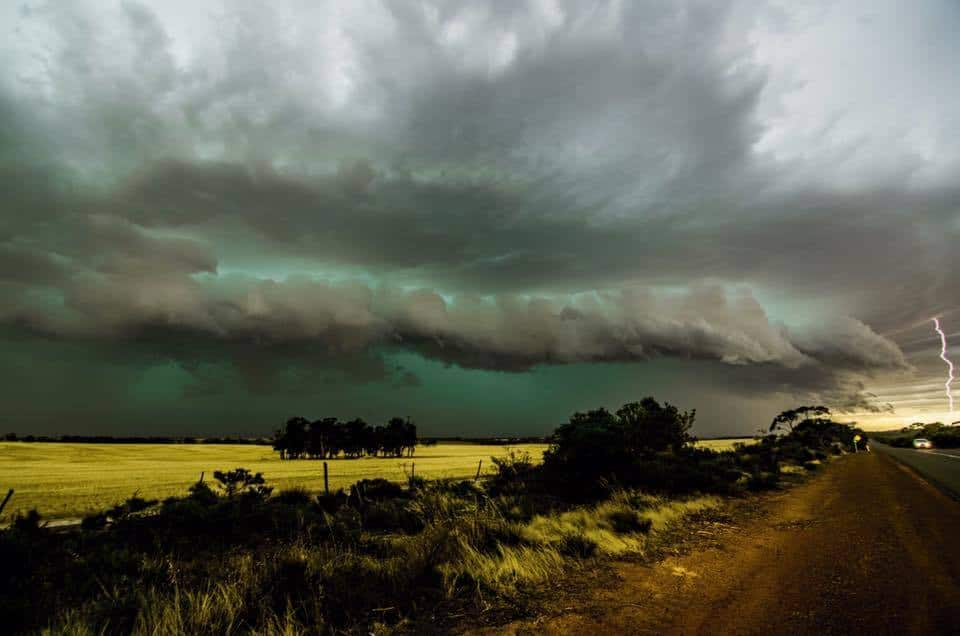 Severe thunderstorm from 27th November 2014 taken from corrgin Western Australia with a Nikon D7000