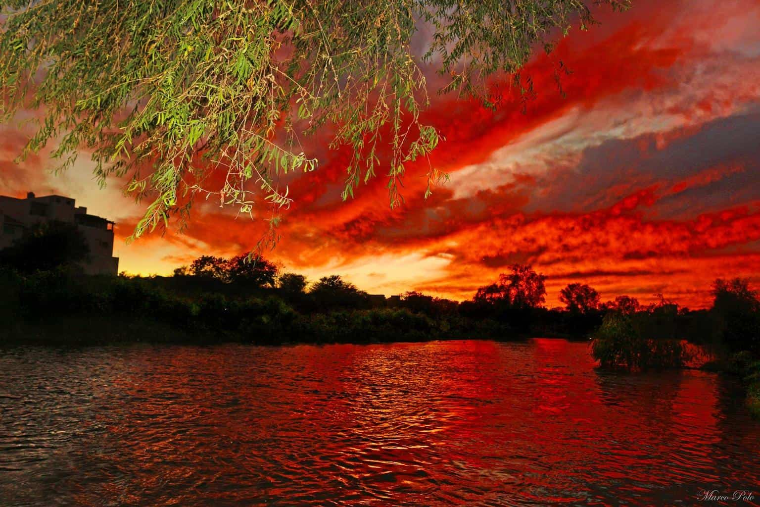 Sunset by the river. Sinaloa, Mexico.