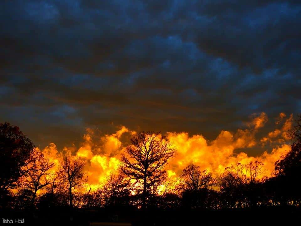 Flashback to one of the most craziest sunsets I've ever witness. Taken on November 17, 2015 in Park Hill, Oklahoma.