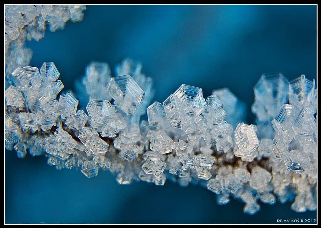 Close shot of ice crystals, 27.12.2015