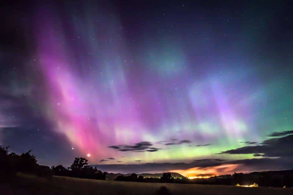 Aurora painting the sky on June 22, 2015 lasted for nine hours took 400 photos of it. Frankfort Michigan.