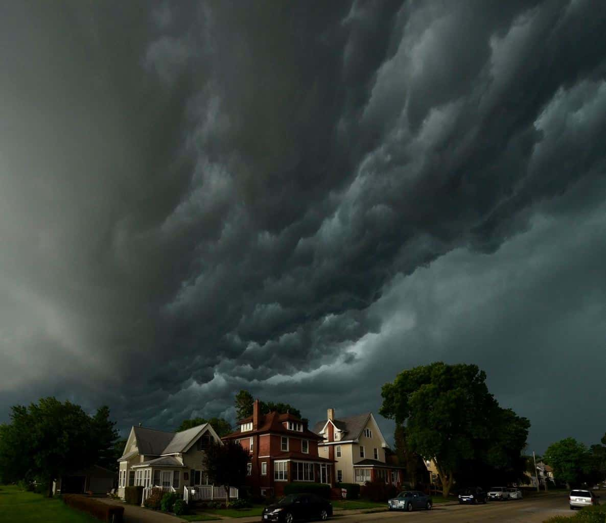 This is a cold front coming through on a late afternoon in Clinton Iowa ,June 19th 2014