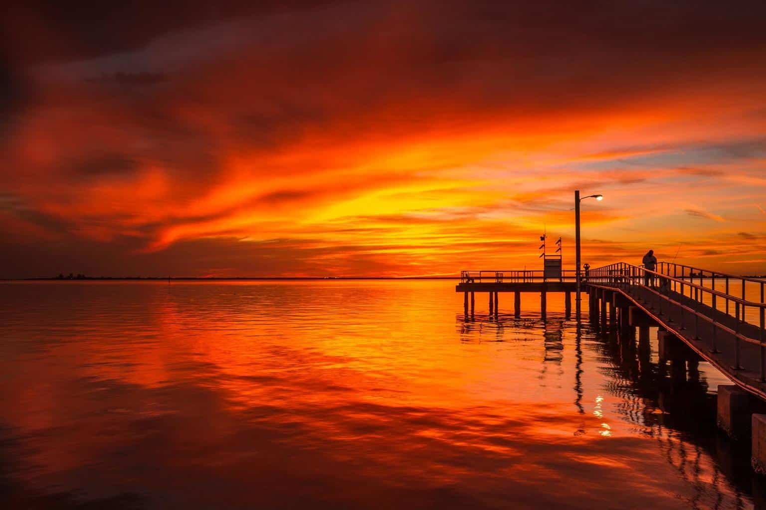 Fiery Sunset last night in Tampa, Fl - This was taken on Picnic Island in South Tampa