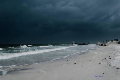 Storm coming on shore by Tampa this morning.