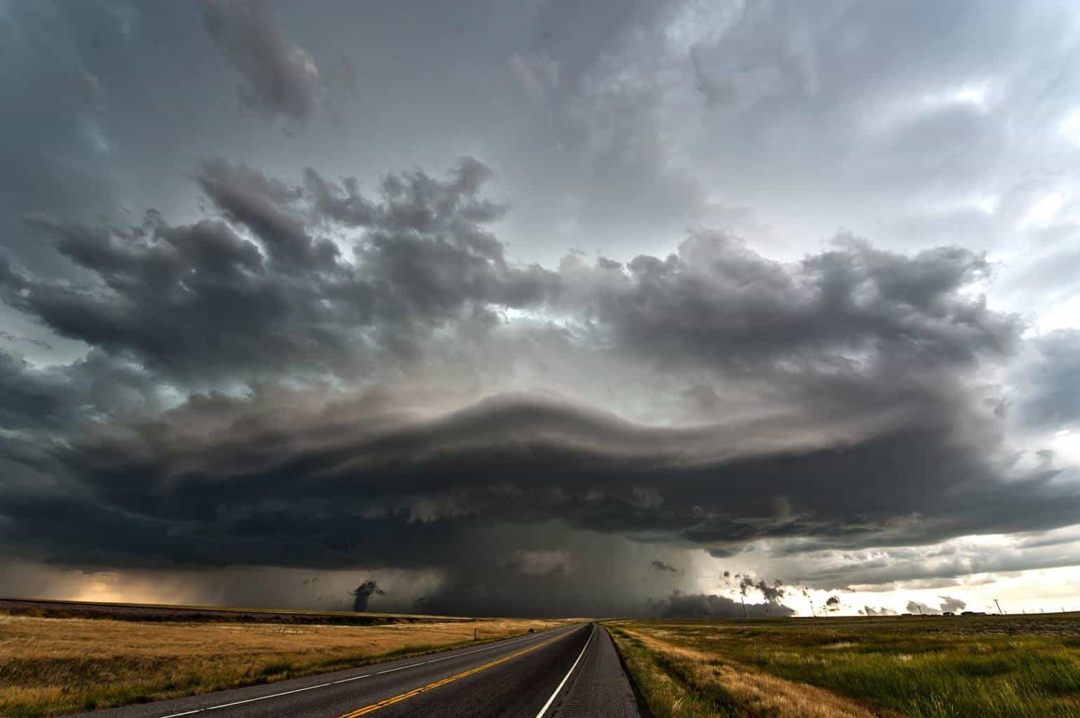 July 10, 2013 Akron, CO Severe warned storm west of town. This storm didn't last long and produced quarter sized hail and winds over 60 mph.