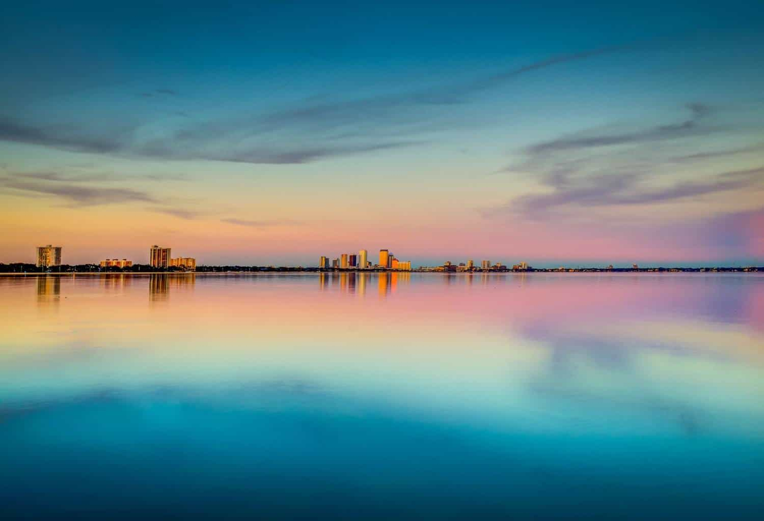 Cotton Candy Sunset - Tampa, Fl  Taken on Bayshore Blvd looking at the Tampa Skyline in the distance.  1/20/16
