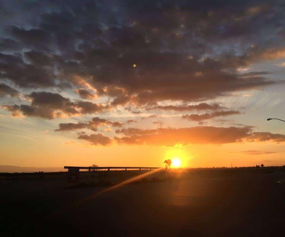The sunset tonight - California