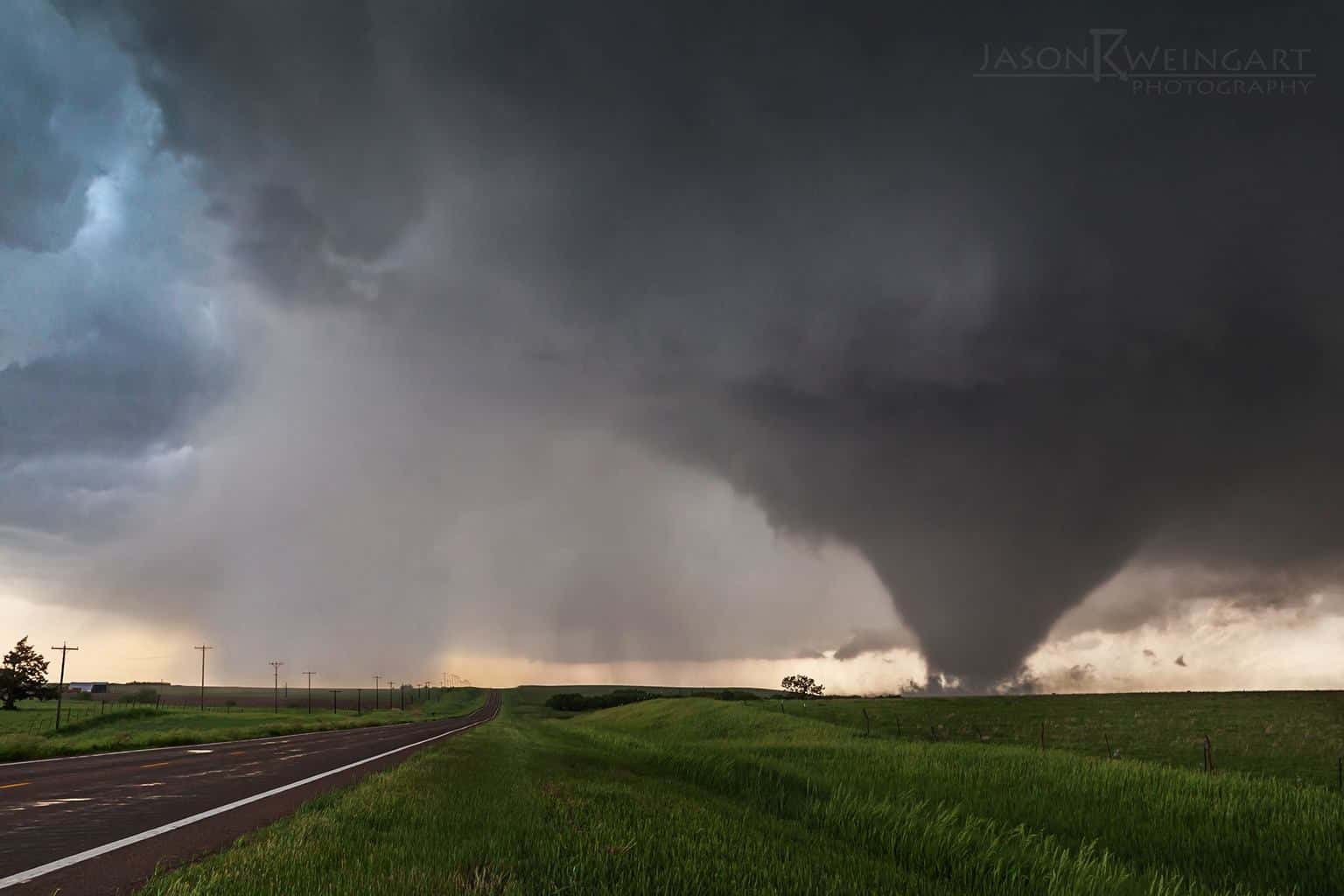 Nothing quite like sitting under the clear slot, watching a tornado spin across an open field. 05.28.13 - Bennington, Kansas  f/9.0 1/80th second  ISO 1000