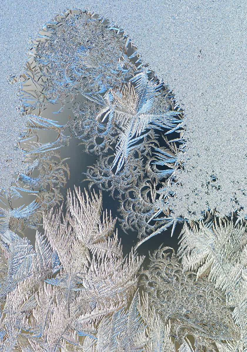 Cold this morning here in eastern Iowa.... This is frost on our windows ... Mother nature at her best
