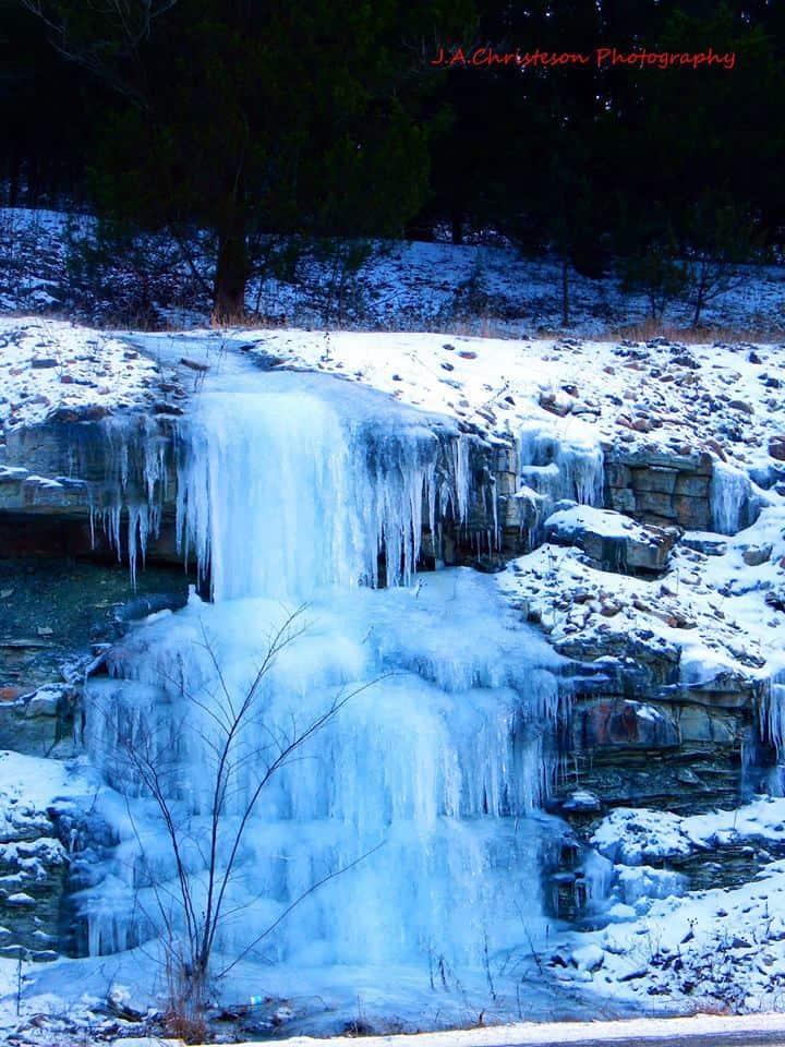 frozen waterfall...........Leadwood Mo.