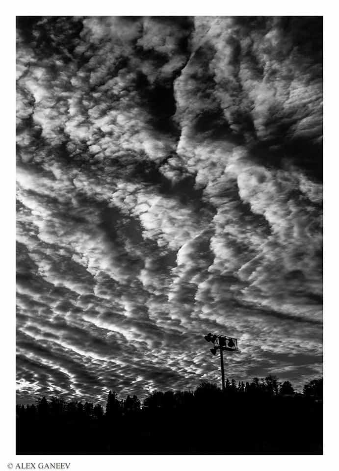 Sky outside my dorm. January 2015, Duluth, MN