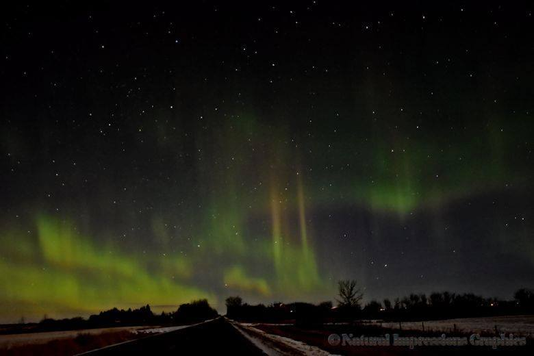 Went out early to Chase the Aurora last night. At 4 am I was getting cold, then I started seeing Dollar signs.... lol East of Edmonton, Alberta , Canada