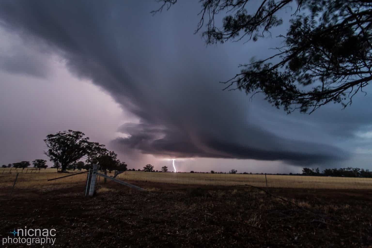 This was taken Friday 22nd January just north of Kurting, Victoria, Australia around 8.45pm. This storm was coming right at us and fast hence the blur.. but hopefully you get the idea!